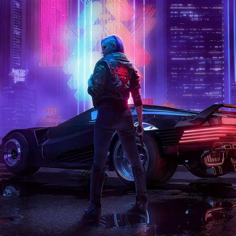 cyberpunk   samurai jacket car   wallpaper