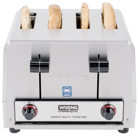 waring 4 slice commercial toaster waring wct800rc heavy duty 4 slice commercial toaster 120v