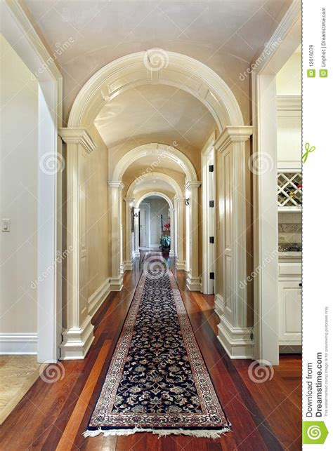 hallway  curved arches royalty  stock images