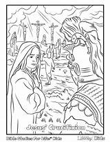 Coloring Jesus Easter Pages Crucifixion Tomb Empty Colouring Lifeway Bible Resurrection Sunday Alive Pdf Activities Mary Religious Printable Christian Children sketch template