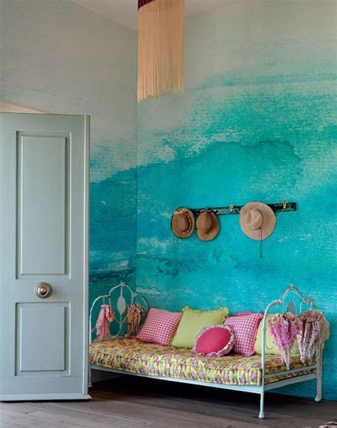 creative wall mural ideas color gradation   good