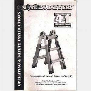 Gorilla Ladders Operating And Safety Instructions Owner U0026 39 S