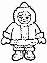 Pages Eskimo Inuit Coloring Boy Colouring Template Sheet Printable Clipart Eskim sketch template