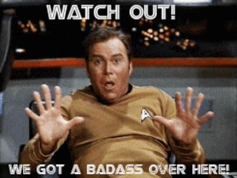 Bad Ass Memes - captain kirk neil degrasse tyson bad ass star trek gif gif by jimifunguzz photobucket