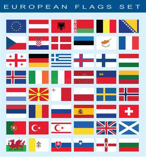 insieme delle bandiere europee illustrazione di vettore fotografia stock immagine di europeo