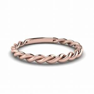 Twisted Wedding Band In 14K Rose Gold Fascinating Diamonds