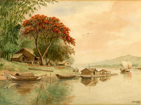 U MT Hla Painting - Burma/Burmese - Michael Backman Ltd