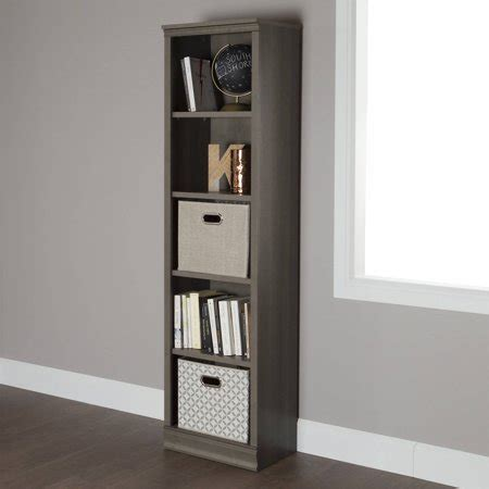 Bookcases At Walmart by South Shore 5 Shelf 71 1 2 Quot Narrow Bookcase