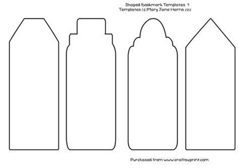 4 Shaped Bookmark Templates 3  Cu4cu Cup36462099