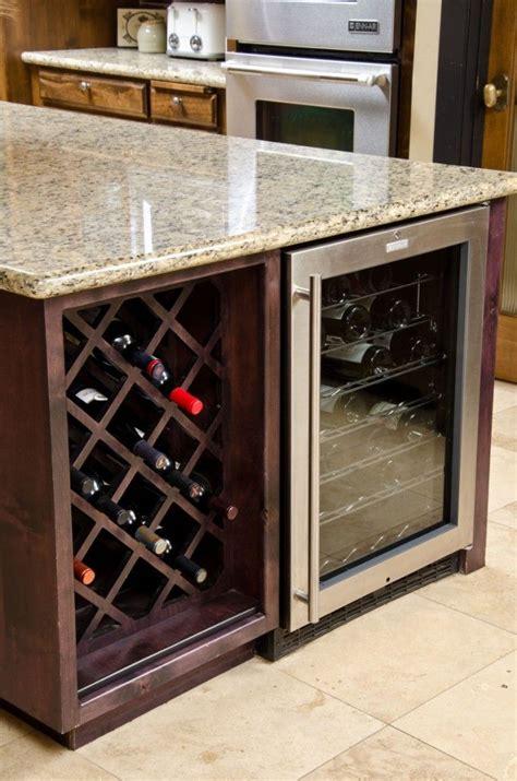 kitchen island with wine storage 25 modern ideas for wine storage in your kitchen and