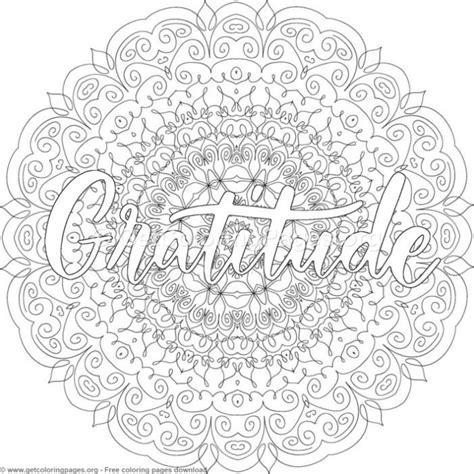 gratitude mandala coloring pages getcoloringpagesorg