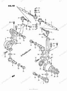 Suzuki Atv 1992 Oem Parts Diagram For Tie Rod