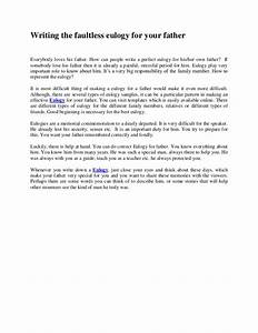 writing the faultless eulogy for your father With eulogy template for father