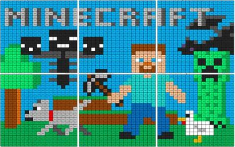 minecraft subtraction mural coloring squared