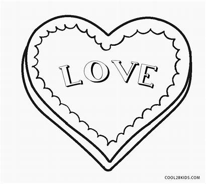 Coloring Heart Printable Pages Template Cool2bkids Templates