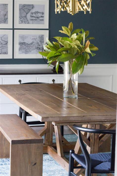 modern farmhouse dining table benches erin spain