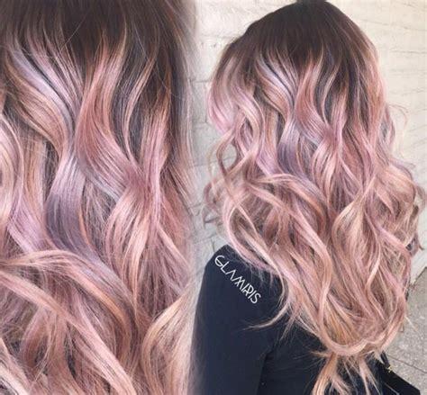 Rose Gold Ombre Cheveux Cheveux Cheveux Rose Et