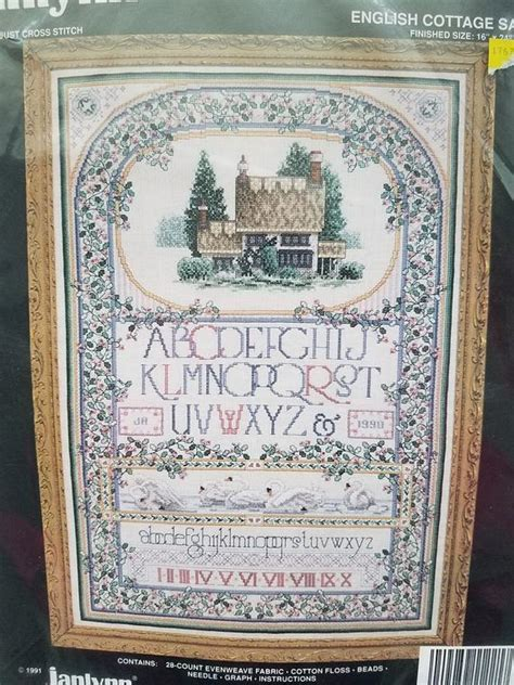 """Janlynn Counted Crossstitch, Brand New, """"english Cottage"""