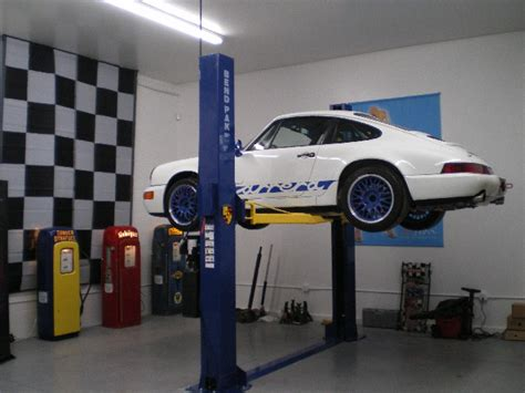 home garage lift about 4 post lifts for home garage rennlist porsche