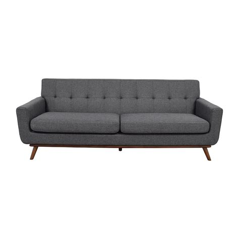 gray leather tufted sofa 37 off inmod inmod charcoal grey tufted lars sofa sofas