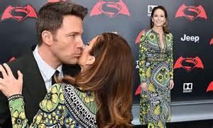 Man Of Steel's mum Diane Lane kisses Ben Affleck at Batman ...
