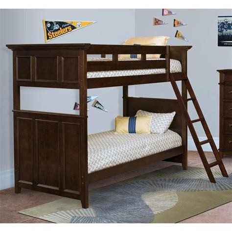 prescott twin over twin bunk bed in rich sable nebraska