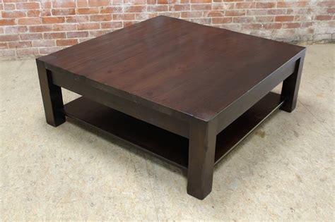 square parsons coffee table  espresso ecustomfinishes