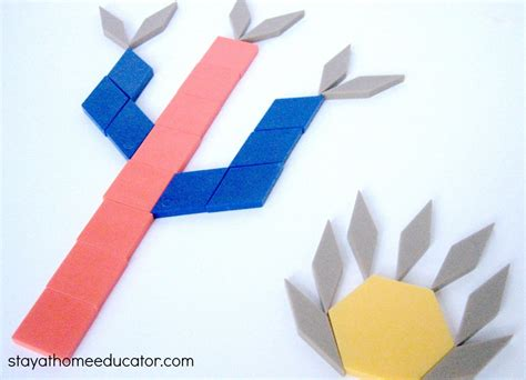 eight desert theme preschool activities 169   Cactus Pattern Blocks Fine Motor Activity 1000x722