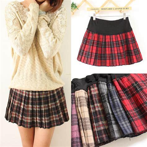 Plaid Short Skirt  Dress Ala