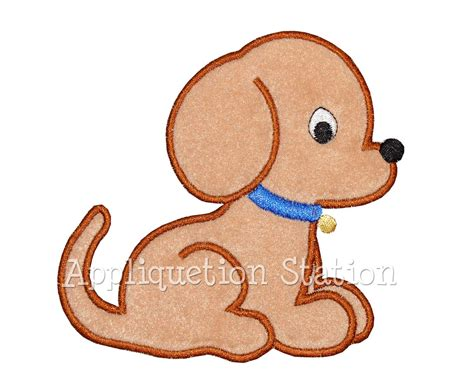 Free Embroidery Applique by Baby Puppy Applique Machine Embroidery Design