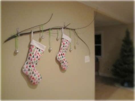 christmas stocking branch  borrowed abodethe borrowed
