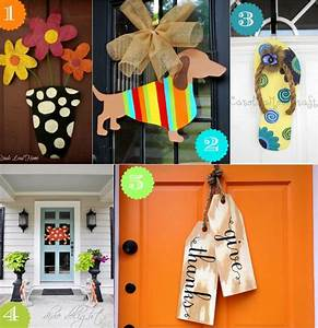 36 Creative Front Door Decor Ideas {not a wreath} - Home