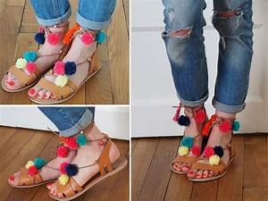 Faire Des Pompons : diy les sandales pompons like a bobo ~ Zukunftsfamilie.com Idées de Décoration