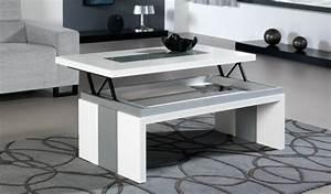 Table Basse Blanche Et Grise : la table basse design en 33 exemples uniques ~ Teatrodelosmanantiales.com Idées de Décoration