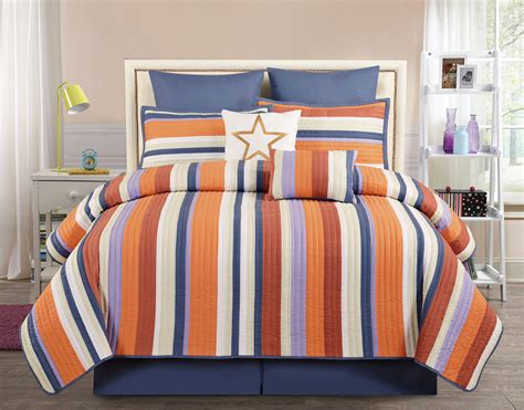 orange quilt set 8 broomfield orange comforter set