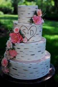 cup a cakes birch wood grain wedding cake
