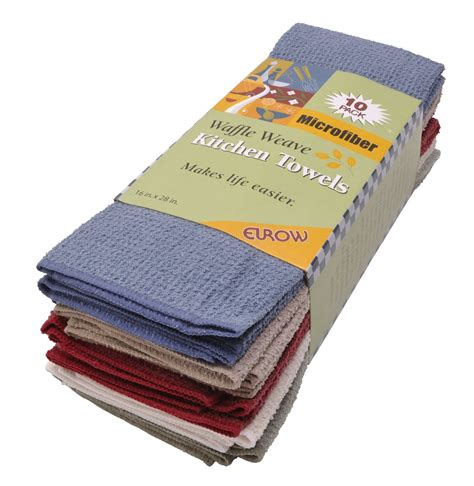 Eurow Microfiber Waffle Weave Kitchen Towels (10pack