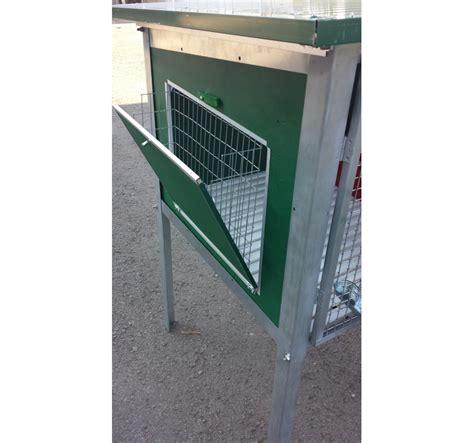 Frontali Per Gabbie - gabbia per riproduttori conigli da esterno a due box