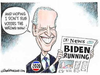 Biden Joe Cartoons Cartoon Running Granlund Editorial