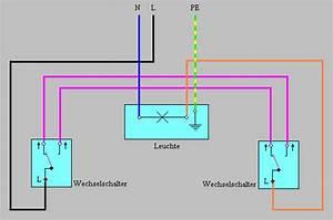 Elektrik Selber Verlegen : wechselschaltung schaltplan wechselschaltung ~ Lizthompson.info Haus und Dekorationen