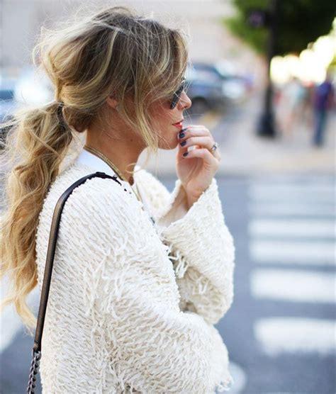 lovely ponytail hair ideas  long hair easy