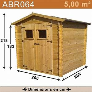 Abri de jardin bois 5,00 m2 : TRIGANO Store