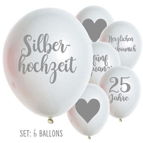 Silberhochzeit Ballons Luftballons 25 Jahre Hochzeit