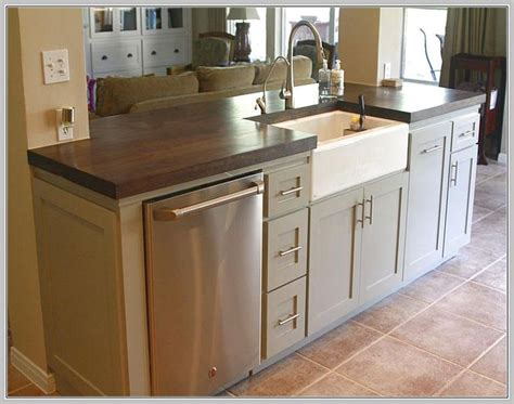 kitchen island with sink and dishwasher and seating best 25 kitchen island with sink ideas on 9906