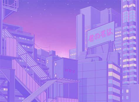purple anime aesthetic wallpapers