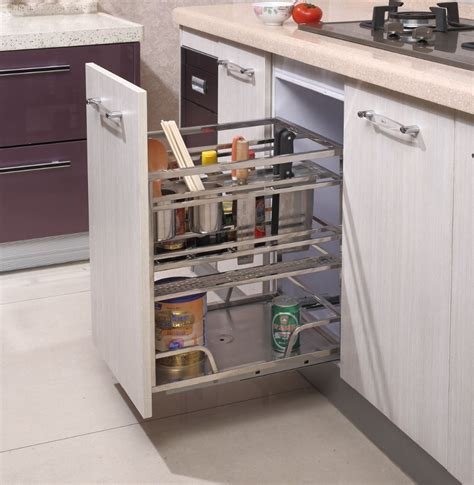213 Cabinet Pull Out Drawer Basket And Stainless Steel