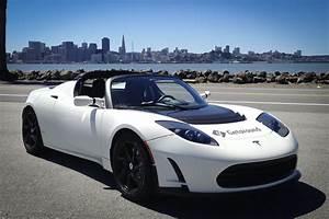 Tesla Roadster white ultra wide screen hd wallpaper ...