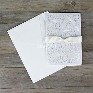 flower style 30pcs lot elegant white hollow flowers With wedding invitations seal inner envelope