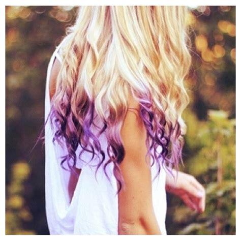 Dip Dyed Hair Hair Pinterest Curly Blonde My Hair