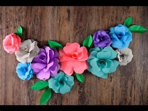 Flores Gigantes de Papel para Guirnalda YouTube